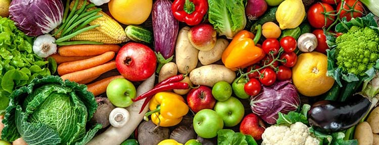 assortment of fruit and vegetables
