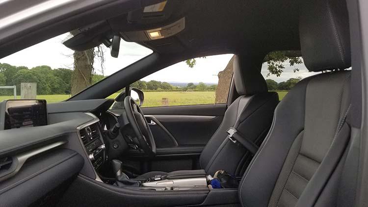 RX450h Hybrid F Sport interior wales