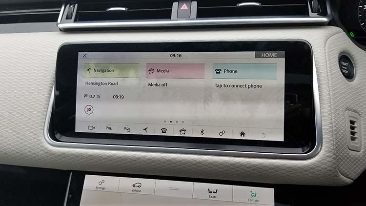 Rnage Rover Velar display unit