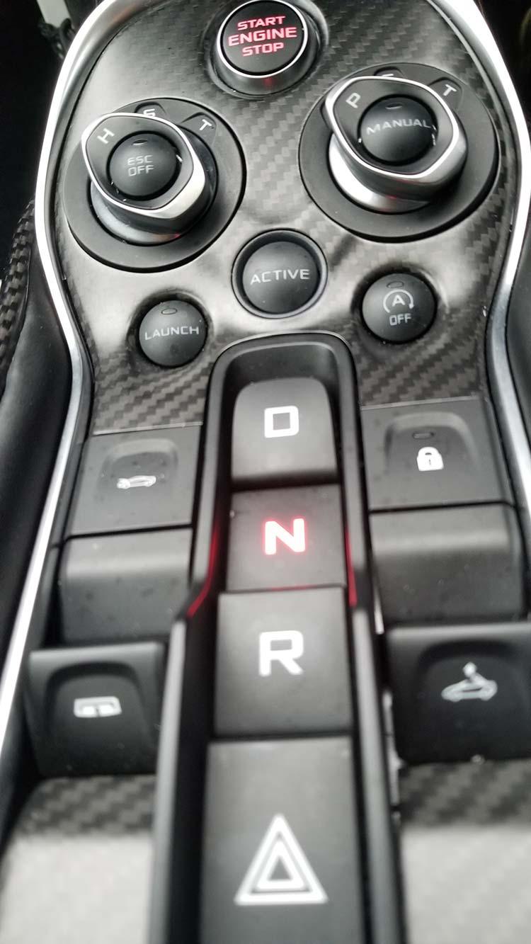 McLaren 570 Spyder Review interior detail