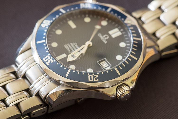 """Omega Seamaster with its fair share of scratches and marks"""
