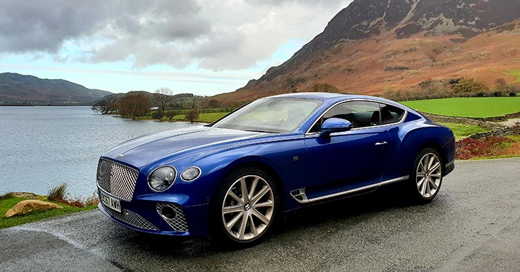 Bentley GT Continental - Grand Tourer Coupe Sequin Blue United Kingdom menstylefashion luxury car 2018 Sequin Blue