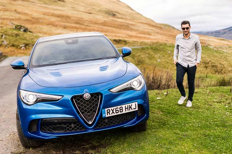 Stelvio Quadrifoglio Alfa Romeo SUV MenSyleFashion Scotland Blue