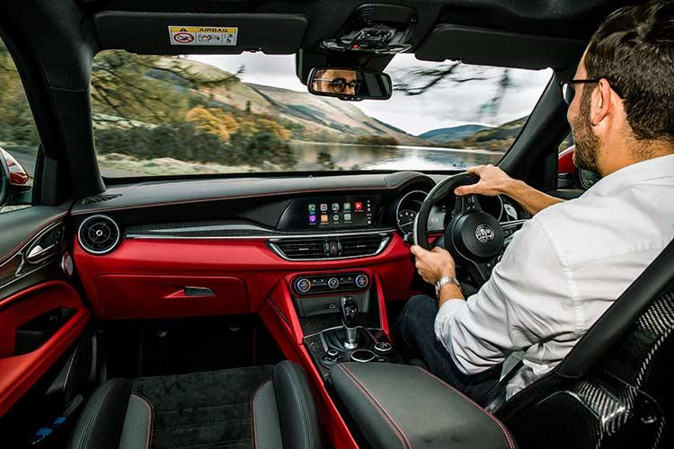 Stelvio Quadrifoglio Alfa Romeo SUV MenSyleFashion Scotland interior