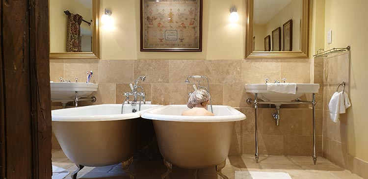 Bailiffscourt Hotel And Spa - his and hers baths