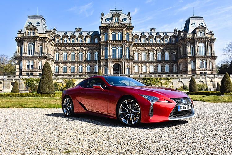 Lexus LC500 V8 MenStyleFashion 2019 review Satinred (19) Bowes museum
