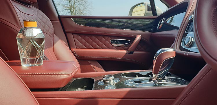 Interior of Bentley Bentayga with Bentley Fragrance
