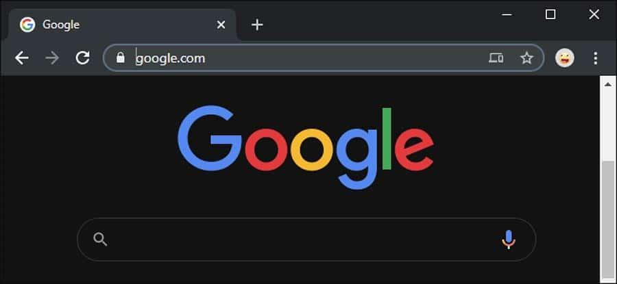 dark mode on chrome browser