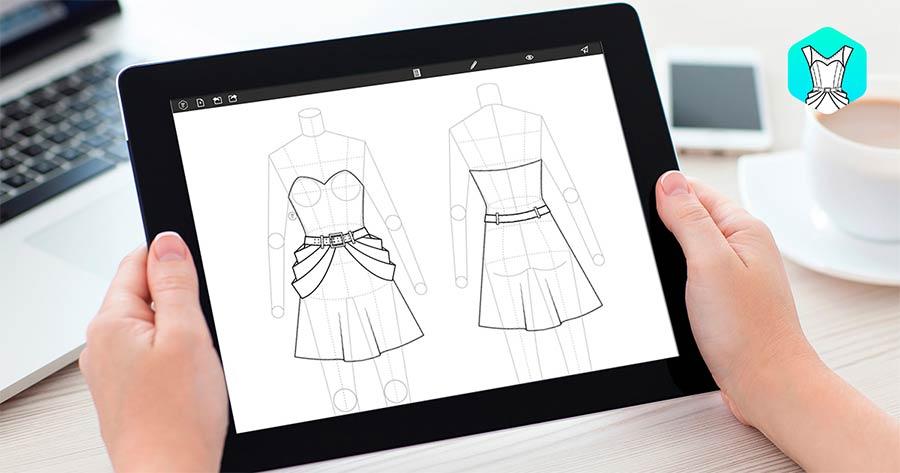 Fashion Design Flat Sketch app