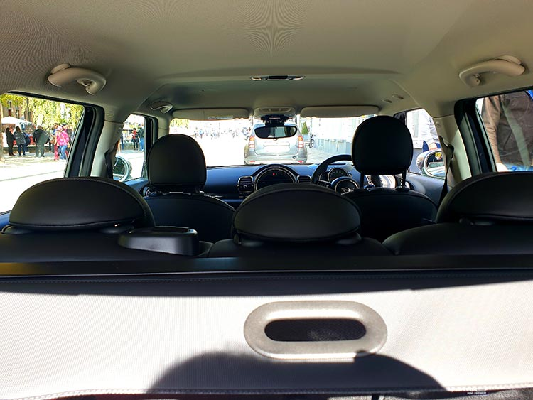 Mini Clubman - The Brugge Job Review 2019 MenStyleFashion JW Cooper Works BMW Rear Seats and boot space