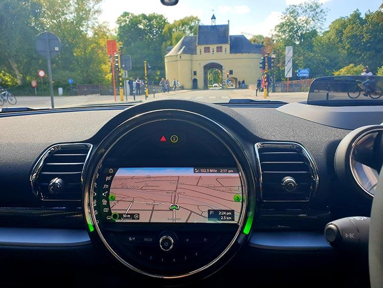 Mini Clubman Review - Road Trip to Bruges Belgium - GPS
