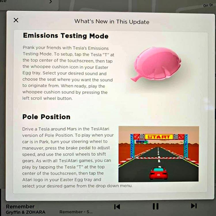 Whoppie Cushion Easter egg Tesla model 3 (2)