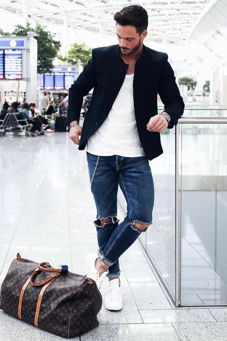 Airport mens fashion