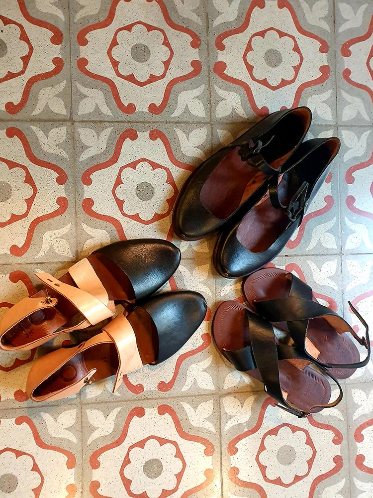 Caboclo ladies and girls leather shoes handmade El Born Spain Barcelona