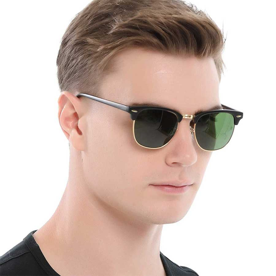 semi rimless sunglasses for men
