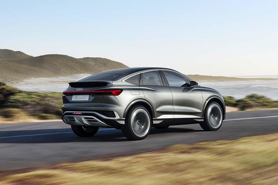 Audi Presents Coupé Variant Of Q4 E-tron As A Concept Car
