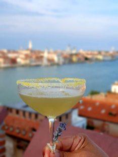 Hilton Molino Stucky Venice - Flour Factory Preserving Italian History skybar cocktail lily rose
