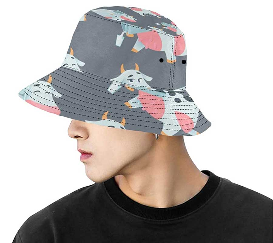 Man with a bucket hat