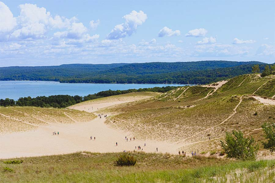 Sleeping bear dunes, glen arbor township