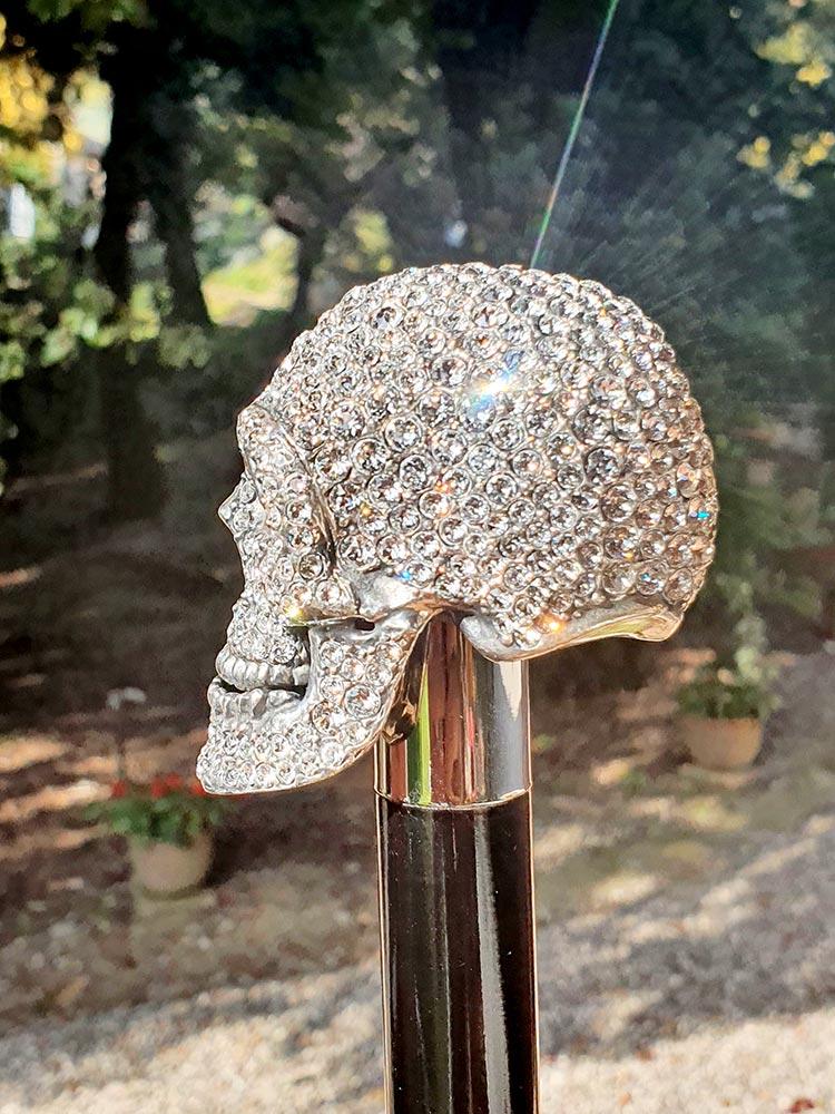 Damien' Swarovski Skull Umbrella