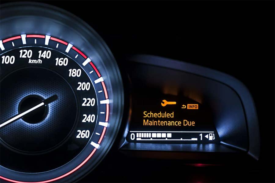 BMW service maintenance warning light
