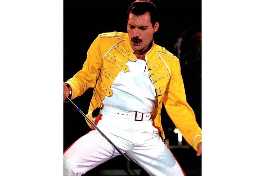 Freddie Mercury Bohemian Rhapsody Yellow Leather Jacket