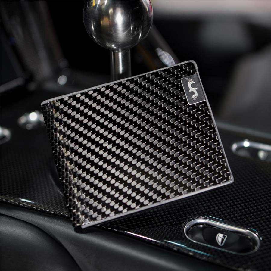 LMX carbon fiber leather bifold wallet from common fibers