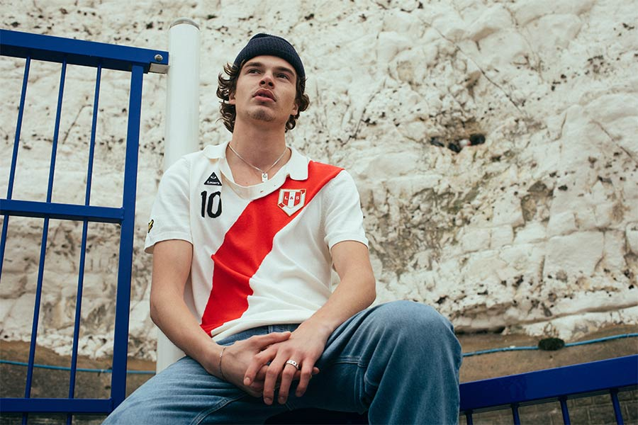 River Plate inspired polo shirt knitwear Lyle & Scott Lovers FC