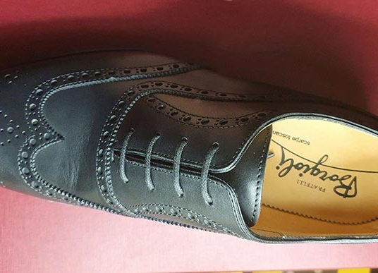 Oxford – Casual Brogued Shoes – Black Fratelli Borgioli Tuscany shoes italy (2)