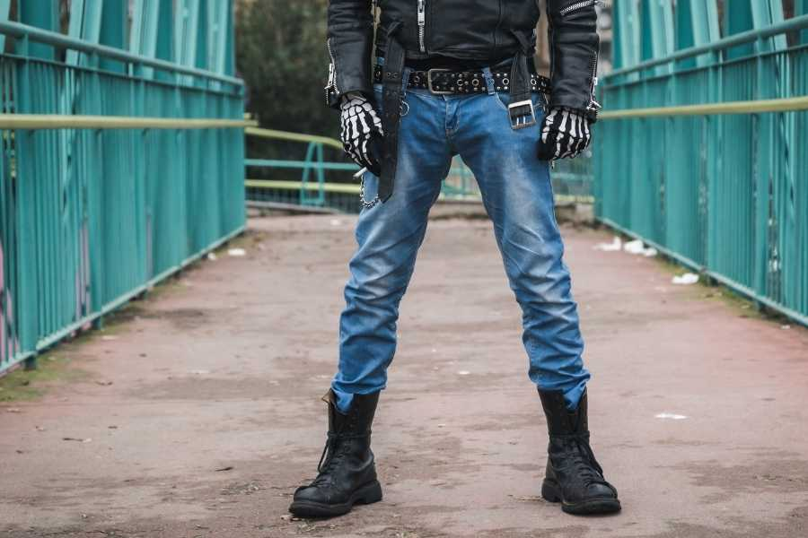 A Style Statement With Knee High Boots For Men