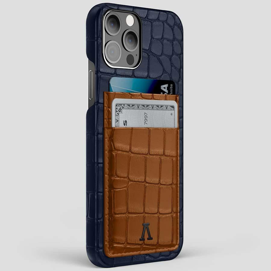 iPhone 12 Pro Max Double Card Coloré Alligator