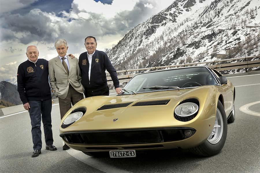 Lamborghini Miura design team