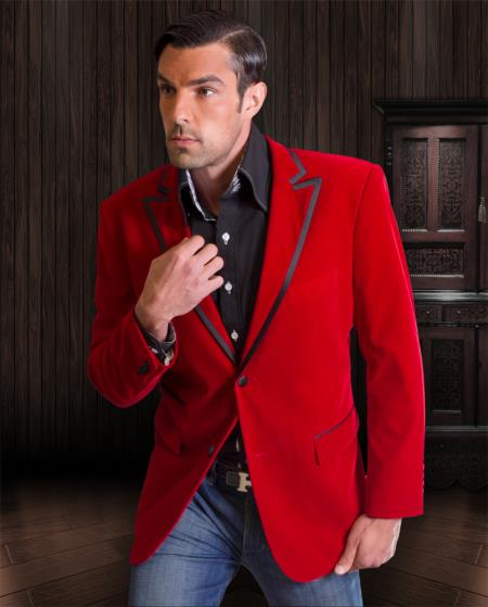 formal red velvet velour
