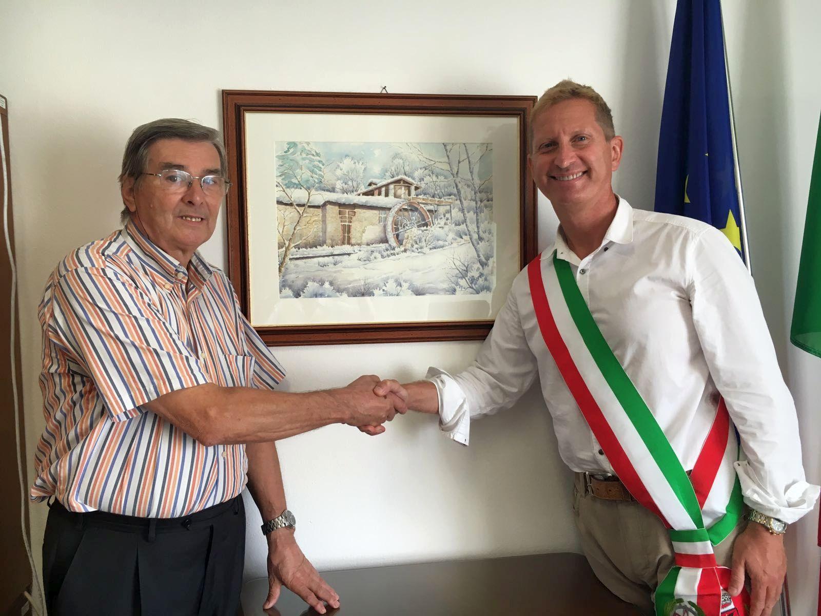 Omaggio di Alessandro Borghi al comune di Cocquio Trevisago  Menta e Rosmarino