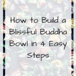 Pan of colourful roasted vegetables with text overlay - How to build a blissful Buddha bowl in easy steps