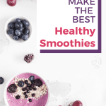 how to make healthy smoothies pin image 4