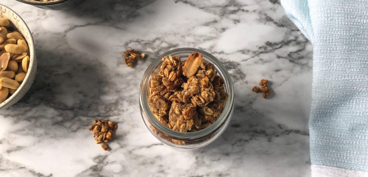 peanut butter granola feature image