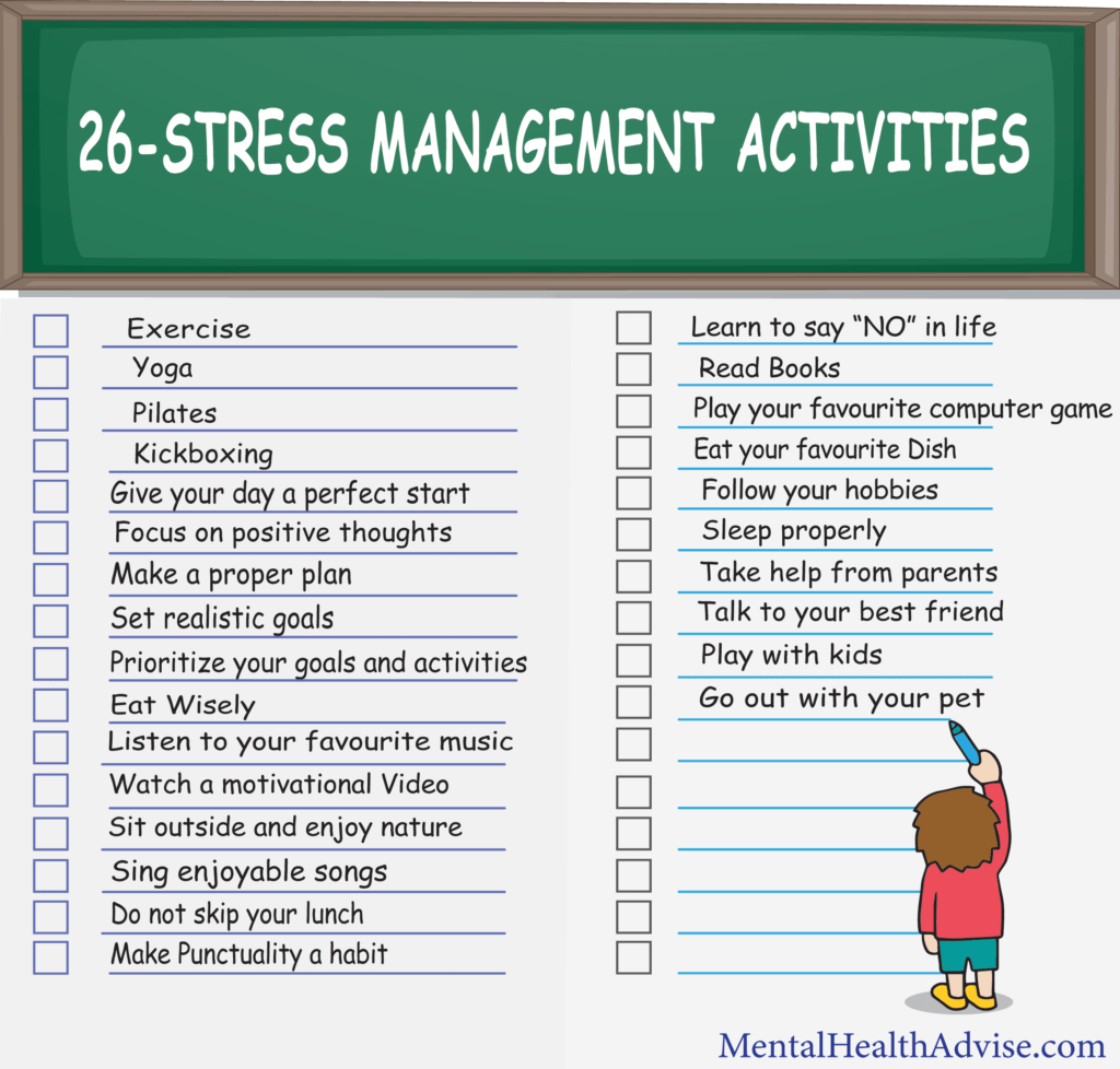26 Stress Management Activities
