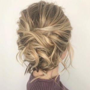 7-tousled-updo-for-medium-fine- Peinado recogido para cabello corto
