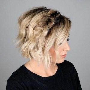 Peinado recogido para cabello corto