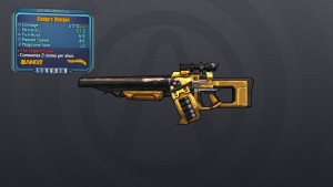 Borderlands 2 weapon inspect background with Sledge Shotgun