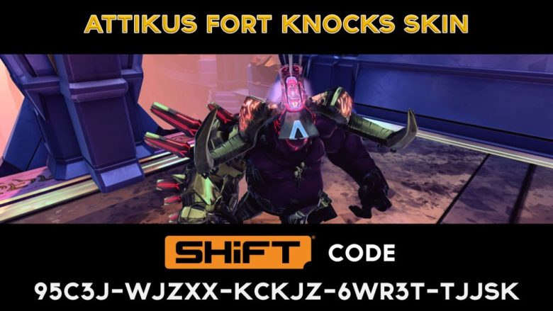 attikus golden skin - shift code - battleborn