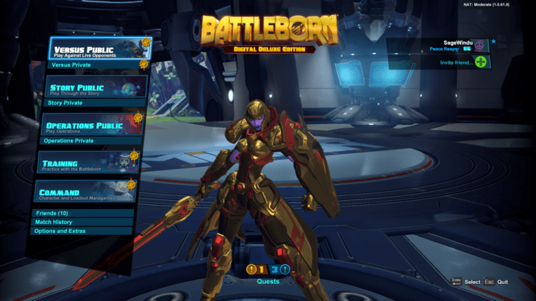 Galilea Golden Skin Battleborn Shift Code