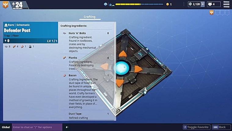 Fortnite Traps - Defender Post
