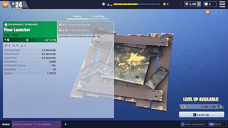 Fortnite Traps - Floor Launcher