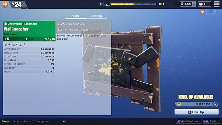 Fortnite Traps - Wall Launcher
