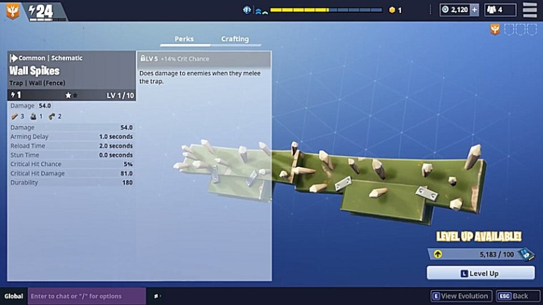 Fortnite Traps - Wall Spikes