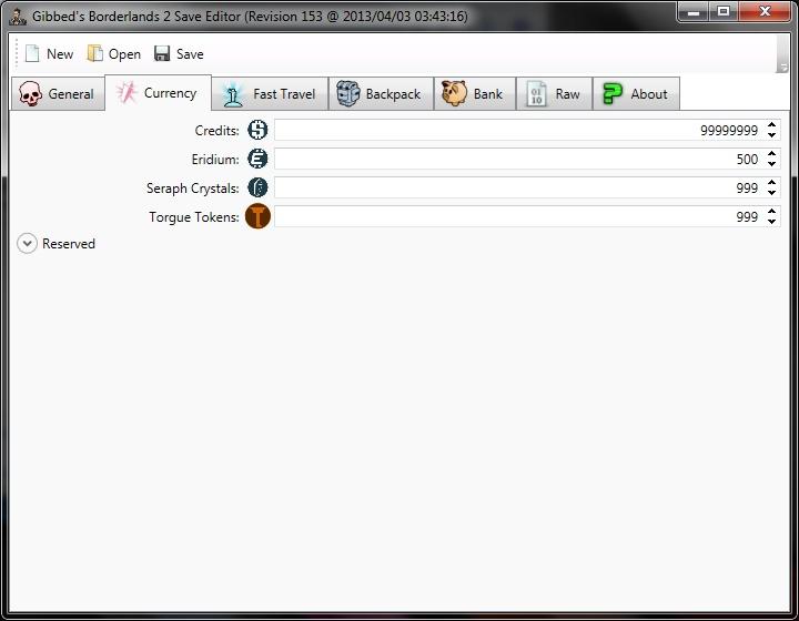 Borderlands 2 Save File Editor - 2 Currency