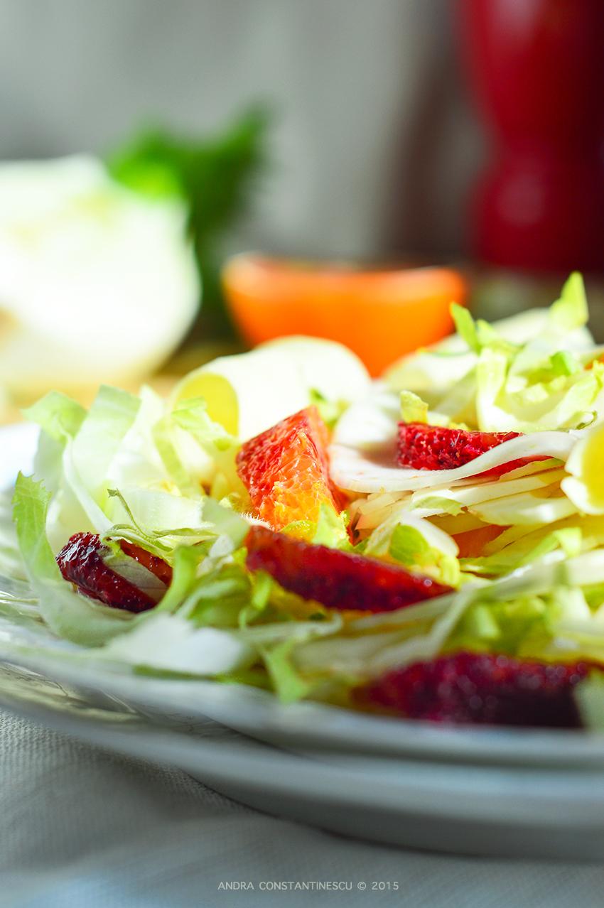 Salata de andive cu fenicul si portocale rosii
