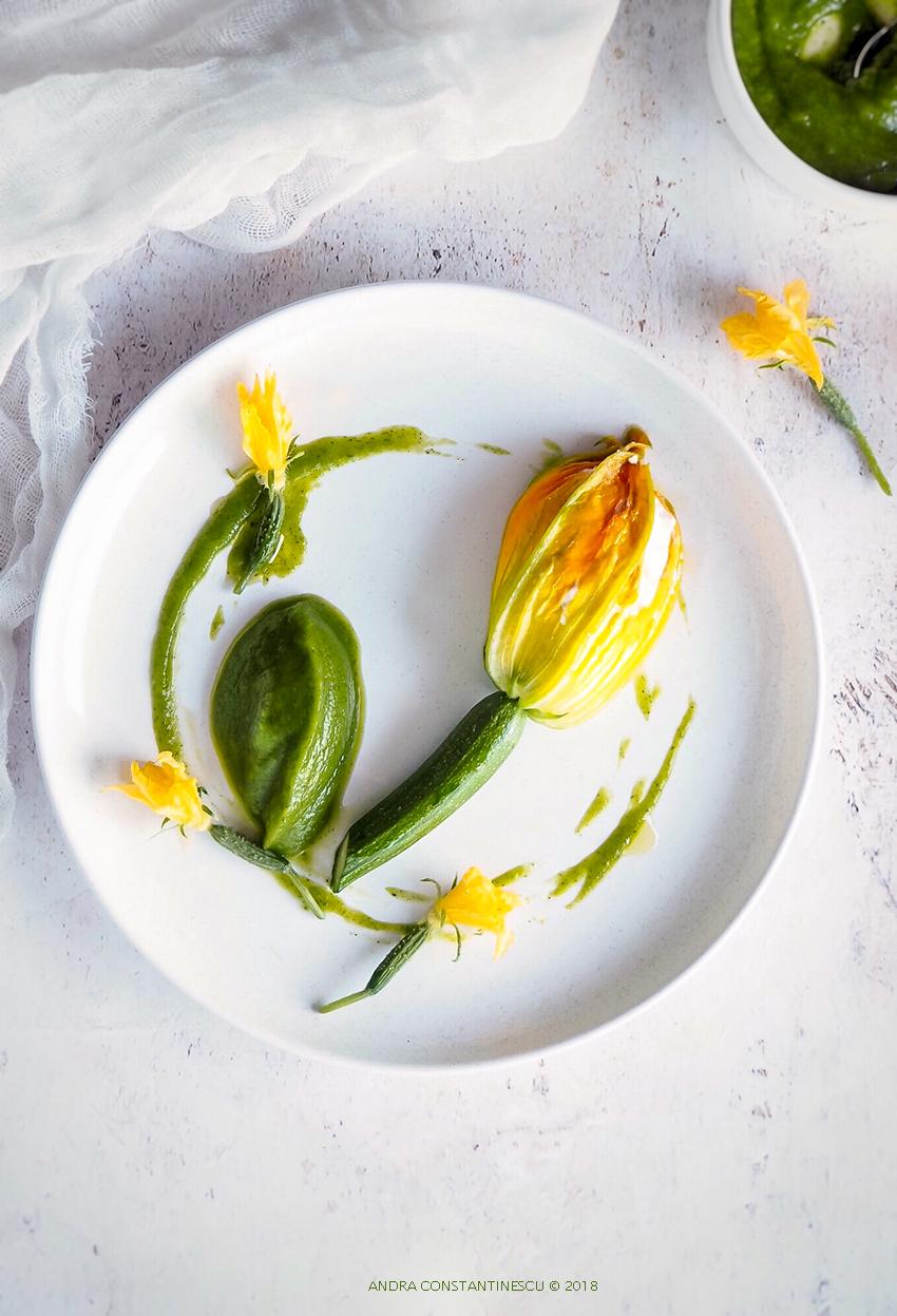 Flori de dovlecel cu ricotta